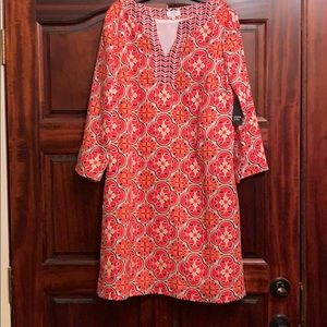 NWT crown and ivy coral dress